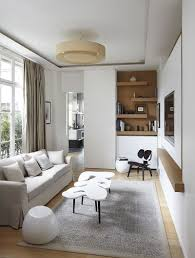 ... Elegant TV room with modern Scandinavian style [Design: Bismut & Bismut  Architectes]