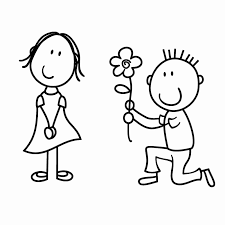 Fiori Da Disegnare Facili Il Ragazzo Scendere Su Un Ginocchio Dare