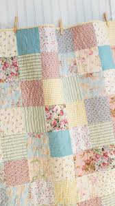pastel patchwork baby girl quilt crib quilt small lap