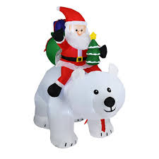 Polar Bear Night Light Us 111 02 38 Off Inflatable Santa Claus Polar Bear Night Light Figure Outdoor Garden Toys Christmas Party Decorations New Year 200cm Us Eu Plug On