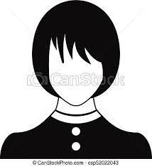 Girl User Icon Vector Simple