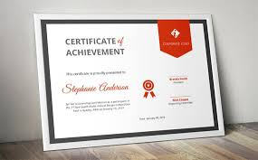 Corporate Certificate Template Best Corporate Ribbon Certificate Template For MS Word Docx Etsy