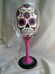 skull decorative wine glasses