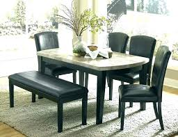 glass dining table set 6 chairs and dinette stunning black faux leather din