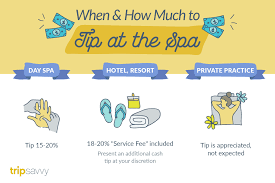 Tipping Chart Usa Tipping In Spas Who When And How Much