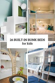 cool bunk beds built into wall. 26 Cool And Functional Built-In Bunk Beds For Kids Built Into Wall