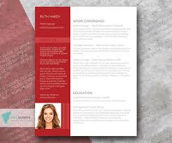 Flair Template Free Resume Template With A Modern Flair Roaring Red Freesumes