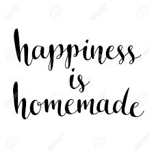 Le Bonheur Est Fait Maison Citation Inspirée De La Vie La Maison La Relation Moderne Phrase De Calligraphie Vector Lettrage Pour Les Cartes Art