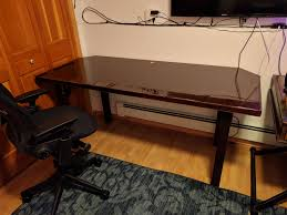 i picked up a fire door made of particle board from habitat for humanity re guy just asked for 5 for it i wanted to turn it into a simple desk