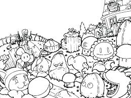 Plants Vs Zombies 2 Coloring Pages Plant Zombie Peashooter Garden