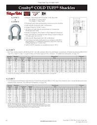 Crosby Shackles From Project Sales Corp Vizag