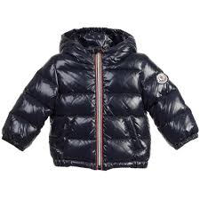 Moncler BABY BOYS DOWN PADDED NAVY BLUE HOODED JACKET