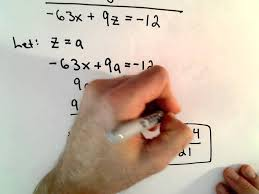 solving a system of 2 equations with 3 unknowns infinitely many solutions you