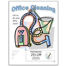 Commercial Cleaning Flyers Free Office Cleaning Flyer Templates For Publisher And Word