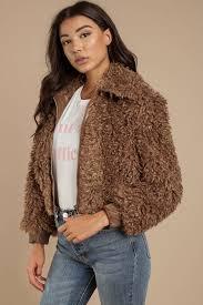 faux fur coats mocha phoenix faux fur jacket