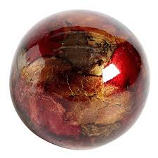 Red Glass Balls Decorative Red Gold Foil Decorative Sphere Bowls Living rooms and Room 2