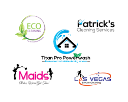 Cleaning Business Logos Design House Janitorial Or Commercial Cleaning Logo