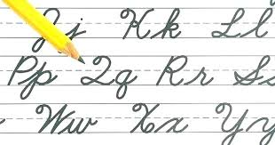 Write In Cursive Generator Cursive Letters For Learning To