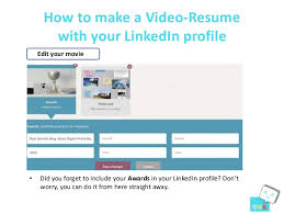 14. How to make a Video-Resume with your LinkedIn ...