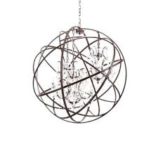 orb crystal chandelier foucaults orb crystal chandelier large