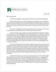 Pastor Resignation Letter Template 10 Church Resignation Letter
