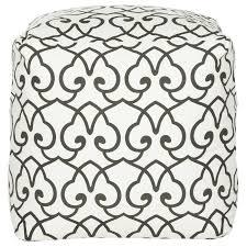 Black And White Pouf Shop Safavieh Celine Casual Black White Pouf Ottoman At Lowescom