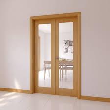 interior clear glass door. 1 Lite Clear Glazed Internal French Door Set, (h)2030mm (w) Interior Glass L