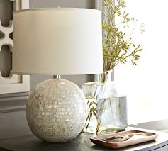 jolie mother of pearl round lamp base