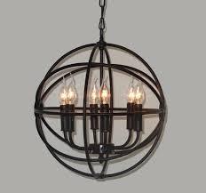 iron orb chandelier roselawnlutheran for elegant property iron globe chandelier remodel