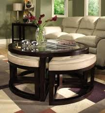Attractive Coffee Table:Gallery Of Coffee Table With Ottoman Seating Underneath Sofa  Table With Ottomans Underneath