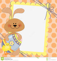 Easter Postcard Template Cute Template For Easter Postcard Stock Vector Illustration of 1