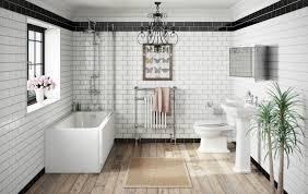 victorian bathroom with white metro tiles
