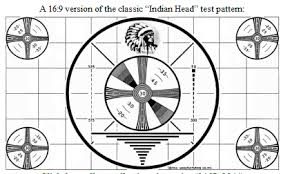 Indian Head Test Pattern Magnificent The Indian Head Test Pattern Was A Black And White Television Test