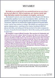 example english essay my family examples of essay writing