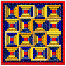 Free Easy Log Cabin Quilt Blocks - page 5 - courthouse steps ... & Free Easy Log Cabin Quilt Blocks - page 5 - courthouse steps blocks and Adamdwight.com