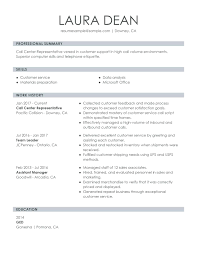 Resumes For Customer Service Representative Perfect Resume For Customer Service