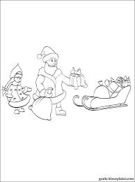 Kerstman In Een Slee Kleurplaat Gratis Kleurplaten