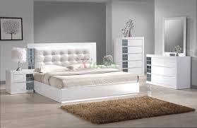 Mirrored Headboard Bedroom Set Platform Bedroom Furniture Set W Upholstered Headboard Beds 149