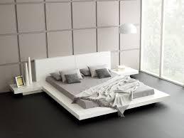 white platform bed design white brown cotton pillows beige oak