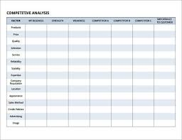 Competitive Analysis Matrix Template Competitive Analysis Matrix Template Magdalene Project Org