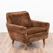 Armchair Upholstery This Mid Century Modern Armchair Is Upholstered In A Durable Brown