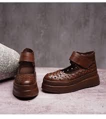 <b>2019 VALLU</b> Summer Platform Shoes <b>Women</b> Flats Round Toes ...