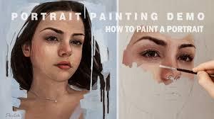 portrait painting demo oil painting time lapse