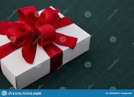 Beautiful Gift Box Design Gift Box With Ribbon On Green Paper Stock Image Image Of