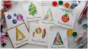 Simple Christmas Designs To Paint 7 Watercolor Christmas Card Ideas For Beginners Maremis Small Art