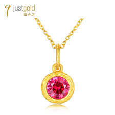 firefly collection 999 9 gold cz pendant red