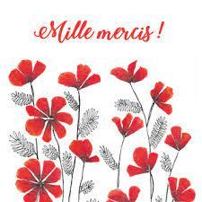 » mille tendres mercis pour votre bonne lettre. Carte Mille Mercis Fleuris Envoyer Une Carte Remerciement Des 0 99 Merci Facteur