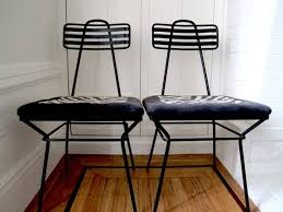 atomic 60s metal chairs set of 2 black