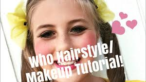 cute and simple seussical who hairstyle and makeup kira lillian