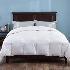 puredown heavy fill white goose down comforter 700 thread count cotton sateen twin in white
